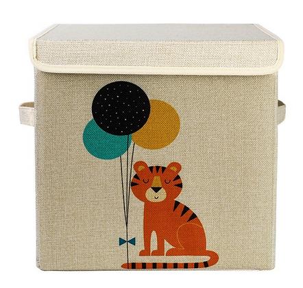 Úložný box s víkem tygr