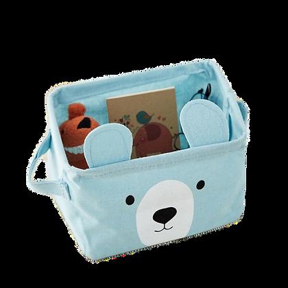Látkový košík medvěd, modrý