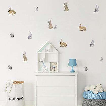 Samolepky na zeď  králíci