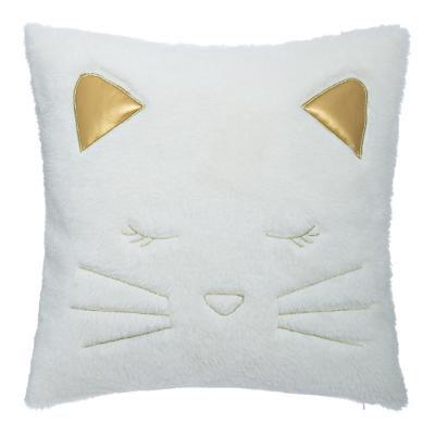 Polštář kočka falešná kožešina 40 x 40