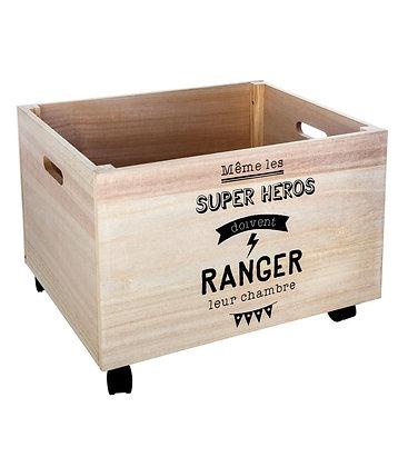 """Dřevěný box na kolečkách """"Super Heros"""""""