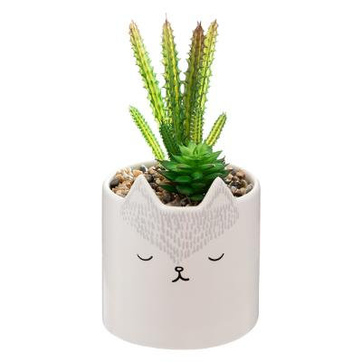 Umělá rostlina v květináči liška
