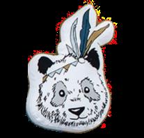 Polštář panda 35 x 45