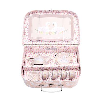 Dětský růžový piknik kufřík