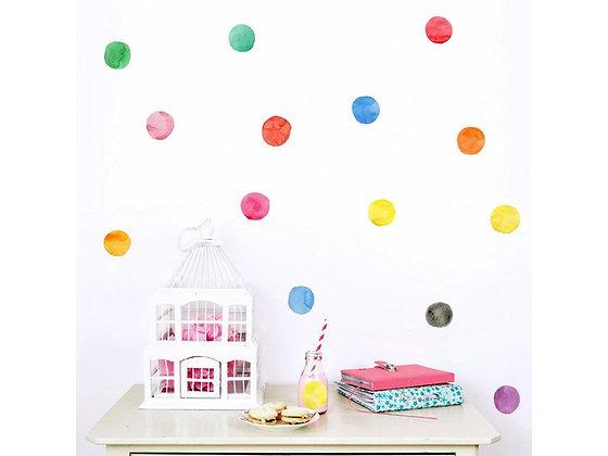 Samolepky na zeď vícebarevné puntíky