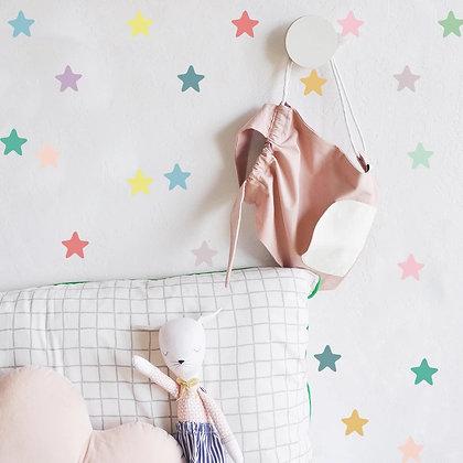 Samolepky na zeď  vícebarevné hvězdičky