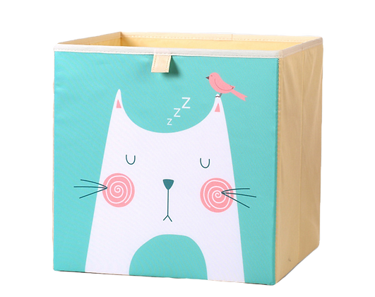 Úložný box kočka, tyrkysová