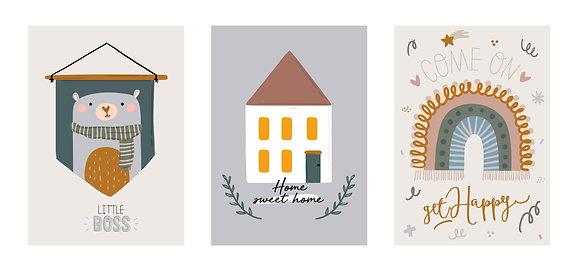Plakáty podzimní barvy | 3 vzory