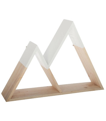 Dřevěná police hory
