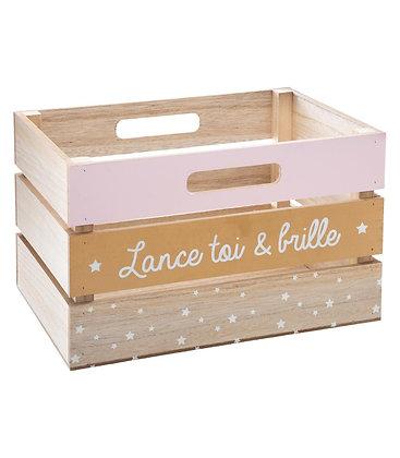 """Dřevěný box """"Lance toi & brille"""""""