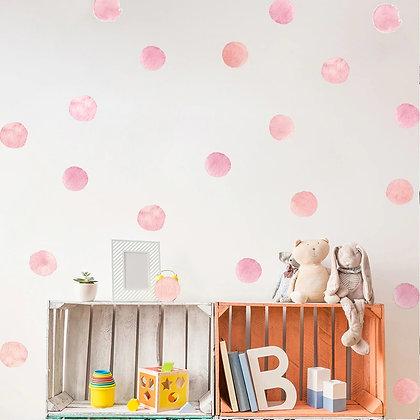 Samolepky na zeď  puntíky | 3 barvy