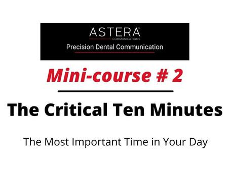 The Critical Ten Minutes