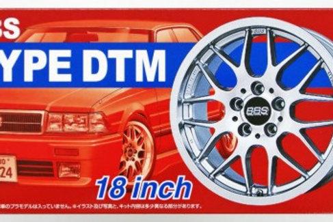"Aoshima BBS DTM 18"" Wheel and Tire Set"