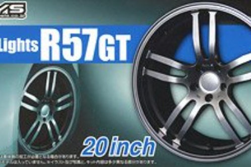 "Aoshima Gram Lights R57GT 20"" Wheel and Tire Set"