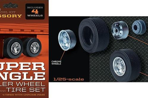 Moebius Super Single Trailer Wheel and Tire Set