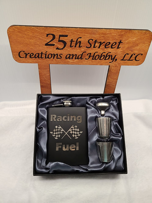 Racing Fuel Flask with gift box