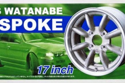 "Aoshima Watanabe 18"" Wheel and Tire Set"