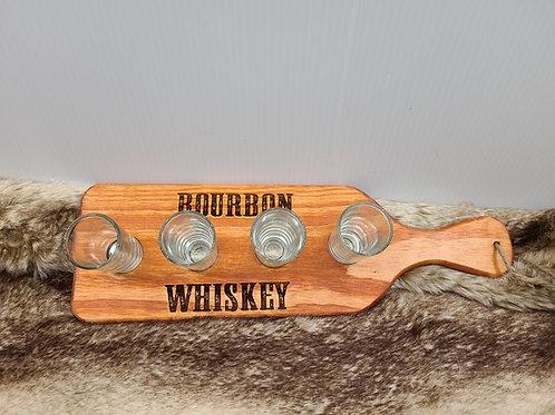 Bourbon Whiskey Flight Board