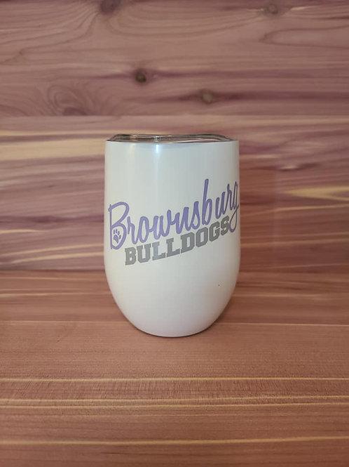 Brownsburg Bulldogs Wine Tumbler