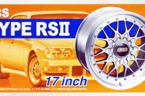 """Aoshima BBS Type RS II 17"""" Wheel and Tire Set"""