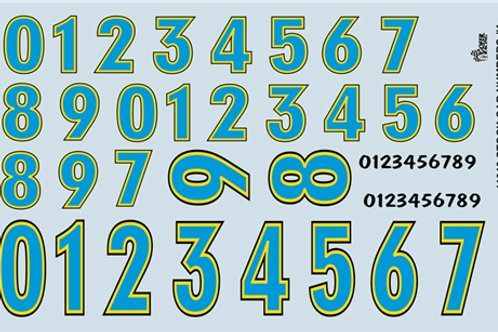 Gofer Racing Stock Car Numbers #1 (Blue)