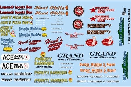Gofer Racing Home Town Sponsor Logos #1