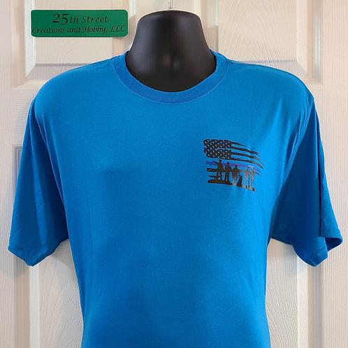 Thin blue line T-shirt, size L