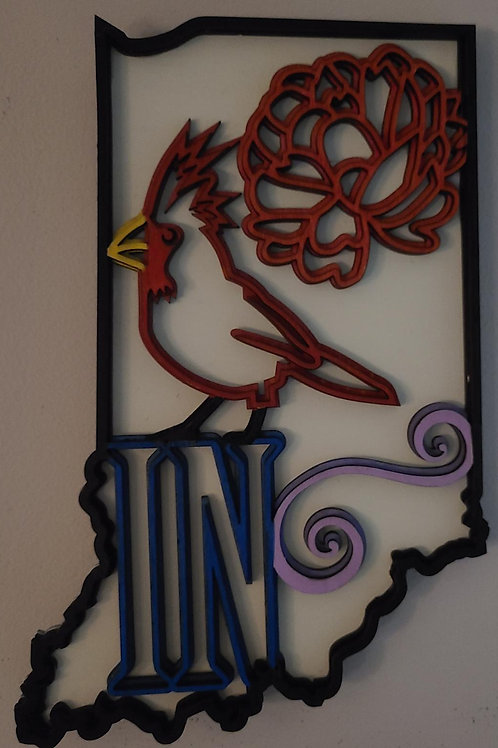 State of Indiana Wall Art