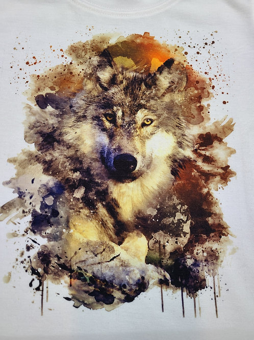 Watercolor Wolf T-shirt