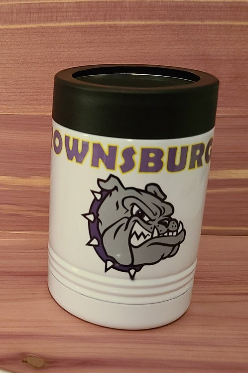 Brownsburg Bulldogs Metal Can Coozie