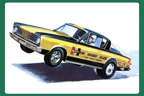 AMT Hurst Hemi Under Glass 1966 Barracuda Wheel Stander