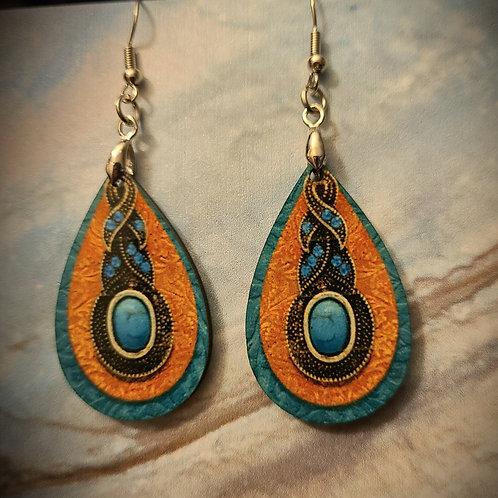 turquoise look dangle earrings