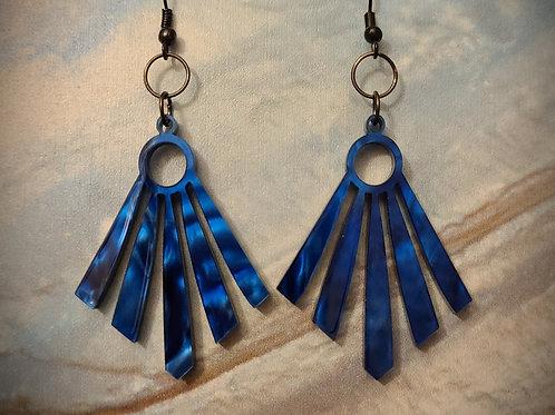 Blue shine dangle earrings