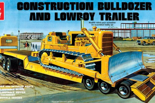 AMT Construction Bulldozer & Lowboy Trailer