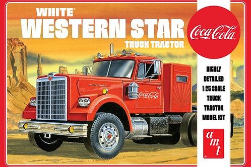 AMT White Western Star w/ sleeper Tractor