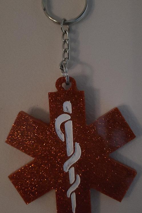 Star of Life Key Chain