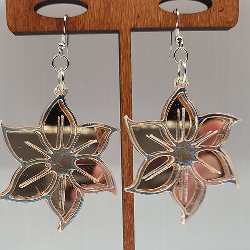 rose gold mirror dangle earrings