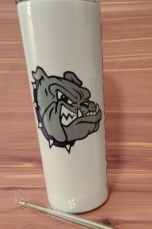 Brownsburg Bulldogs 20oz Skinny Tumbler