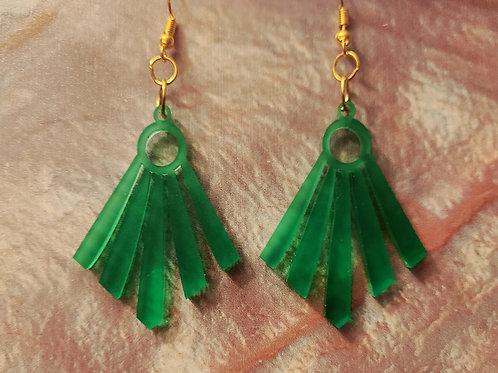 Green acrylic dangles