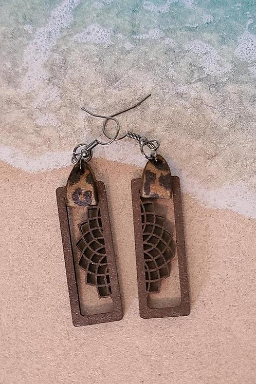 Framed Hemisphere Earrings