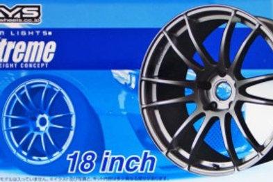 """Aoshima Gram Lights 57 Xtreme 18"""" Wheel and Tire Set"""
