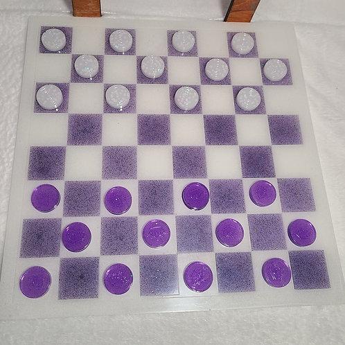 Checkerboard w/checkers