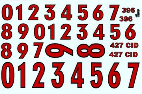 Gofer Racing Stock Car Numbers #2 (Red)