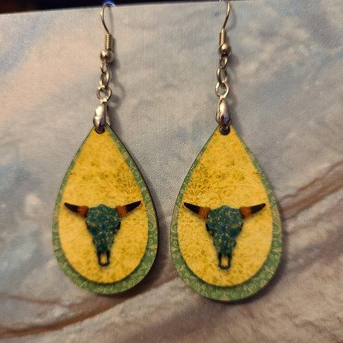 Yellow Longhorn earrings