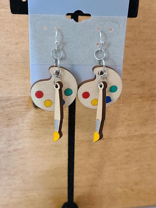 Artist's Pallet Earrings
