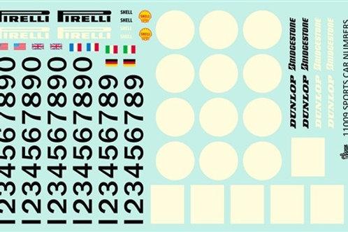 Gofer Racing Racing Sports Car Numbers & Logos