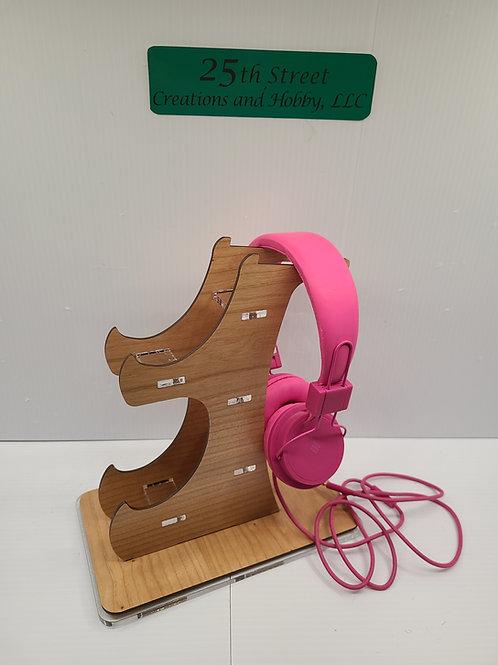 Game station controller/headphone holder
