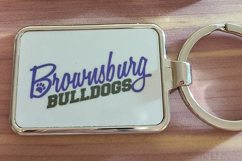 Brownsburg Bulldogs Metal Keychain