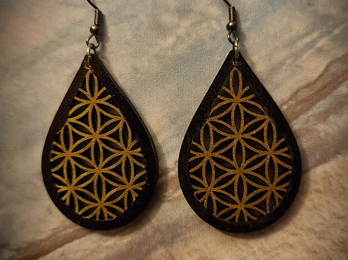 Black and Gold dangles