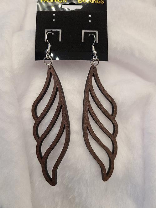 Wing shaped dangle earrings